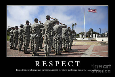 Respect Inspirational Quote Poster by Stocktrek Images