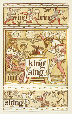 Rhyming Words Ending In The Letter G Poster by British Library