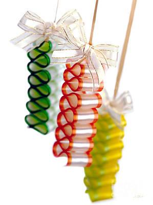 Ribbon Candy Portrait Poster by Iris Richardson