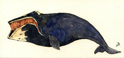 Right Whale Poster by Juan  Bosco