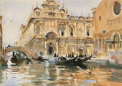 Rio Dei Mendicanti Venice Poster by John Singer Sargent