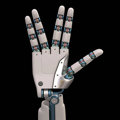 Robotic Hand Poster by Ktsdesign