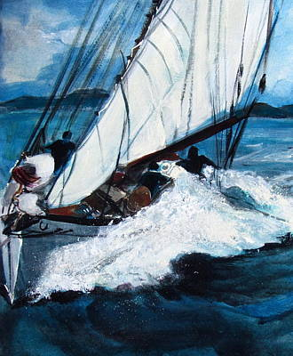 Sailing Poster by Betty Pieper