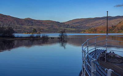 Sailing On Ullswater Poster by Trevor Kersley