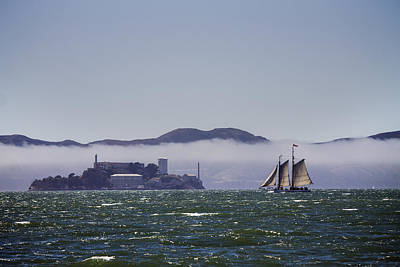 Sailing To Alcatraz Poster by Dee  Savage