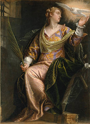 Saint Catherine Of Alexandria In Prison Poster by Paolo Veronese