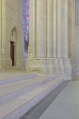 Saint John The Divine Cathedral Columns Poster by Susan Candelario