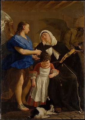 Saint Margaret Of Cortona Poster by Celestial Images