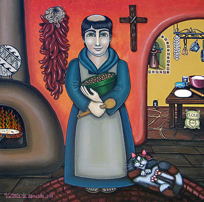 San Pascuals Kitchen Poster by Victoria De Almeida