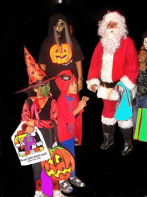 Santa Trick Or Treaters Halloween Party Casa Grande Arizona 2005 Poster by David Lee Guss