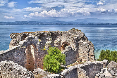 Grotto Catullus In Sirmione At The Lake Garda Poster by Regina Koch