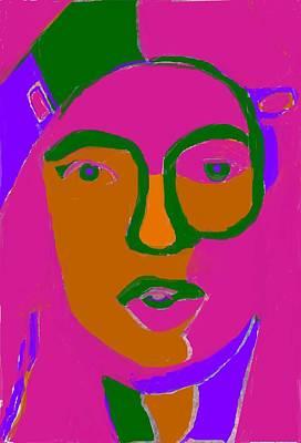 Self Portrait With Clips Poster by Anita Dale Livaditis