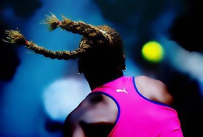 Serena Williams Return Poster by Brian Reaves