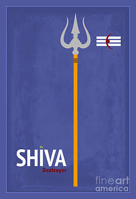 Shiva The Destroyer Poster by Tim Gainey