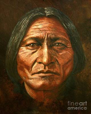 Sitting Bull Poster by Stu Braks
