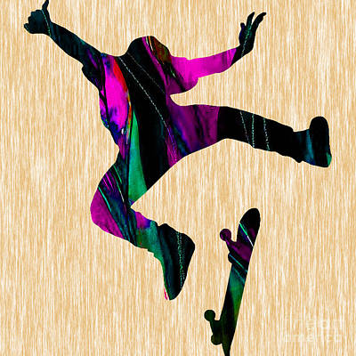 Skateboard Poster by Marvin Blaine