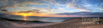 Sleeping Bear Dunes Sunset Panorama Poster by Twenty Two North Photography