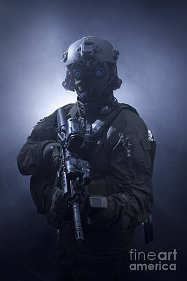 Special Operations Forces Soldier Poster by Tom Weber