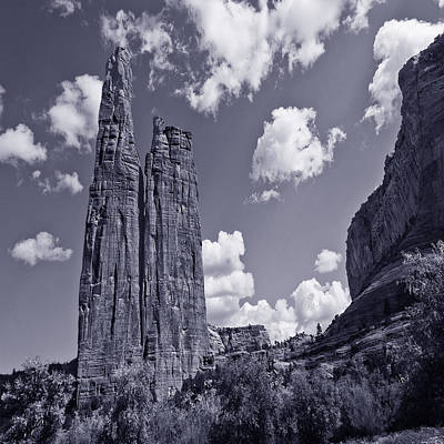 Spider Rock Canyon De Chelly Poster by Bob and Nadine Johnston