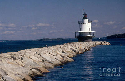 Spring Point Ledge Lighthouse Poster by Bruce Roberts