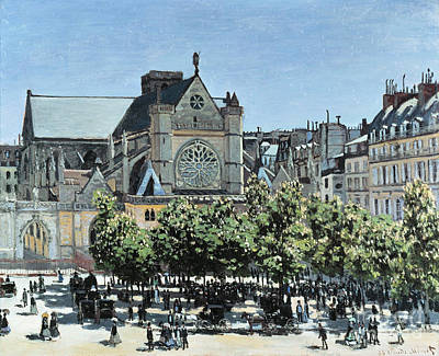 St. Germain L'auxerrois Poster by Claude Monet