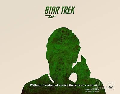 Star Trek Original - Kirk Quote Poster by Pablo Franchi