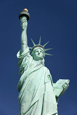 Statue Of Liberty In New York Harbor Poster by Brian Jannsen