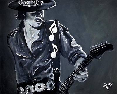 Stevie Ray Vaughan Poster by Tom Carlton