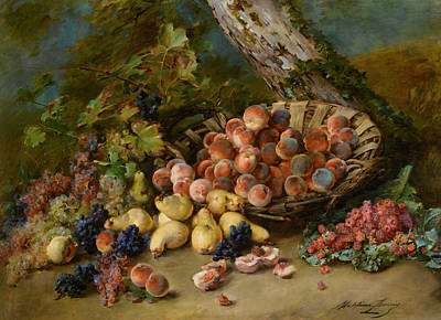 Still Life With Fruits Poster by Madeleine Jeanne Lemaire