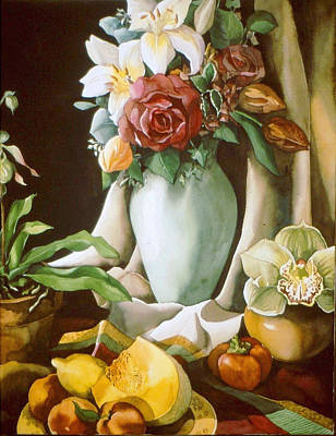 Still Life With Melon Poster by Alfred Ng