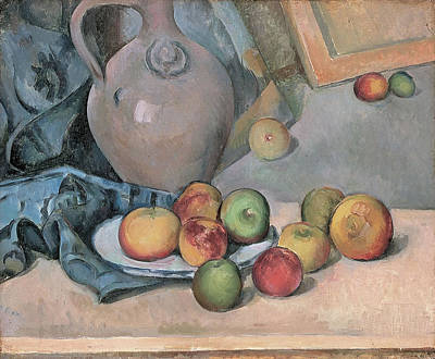 Stoneware Pitcher Poster by Paul Cezanne
