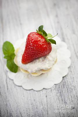Strawberry Cupcake Poster by Mythja  Photography