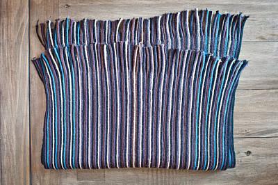 Striped Scarf Poster by Tom Gowanlock