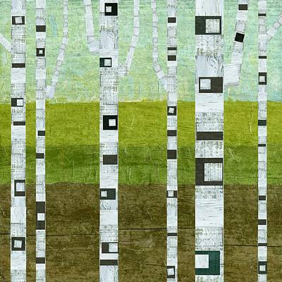 Summer Birches  Poster by Michelle Calkins