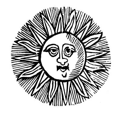 Sun Face, Decorative Poster by Granger