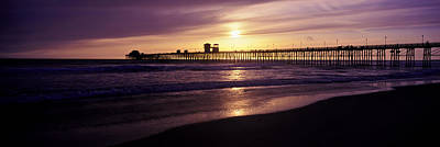 Sunset At Oceanside Pier, Oceanside Poster by Panoramic Images