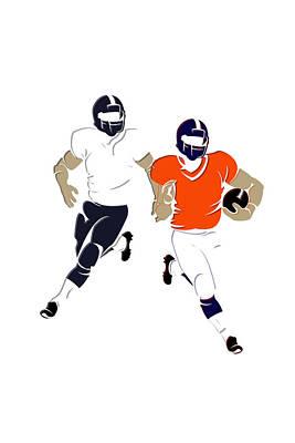 Super Bowl 48 Broncos Vs Seahawks Poster by Joe Hamilton