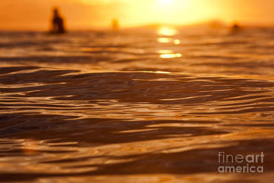 Surfers Sunset Poster by Paul Topp