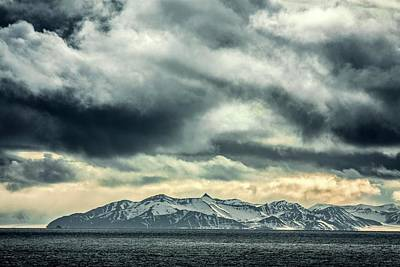 Svalbard Mountains Poster by Paul Williams