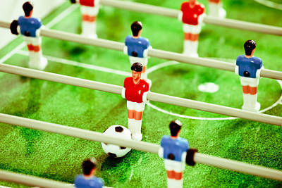 Table Football Poster by Tom Gowanlock