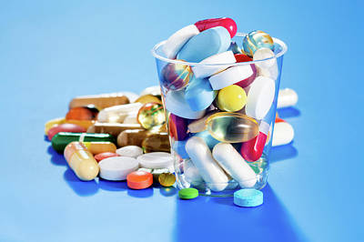 Tablets And Capsules Poster by Wladimir Bulgar