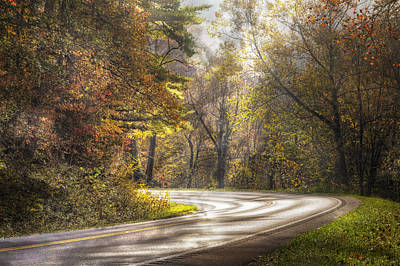 Take The Back Roads Poster by Debra and Dave Vanderlaan
