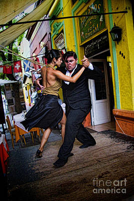 Tango Dancing In Buenos Aires Argentina Poster by David Smith