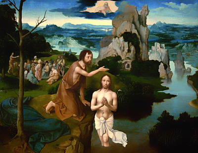 The Baptism Of Christ Poster by Mountain Dreams