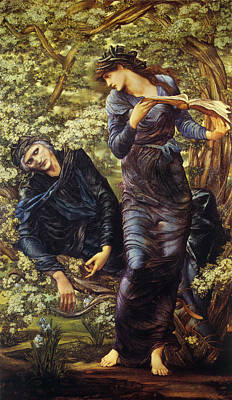 The Beguiling Of Merlin Poster by Edward Burne Jones