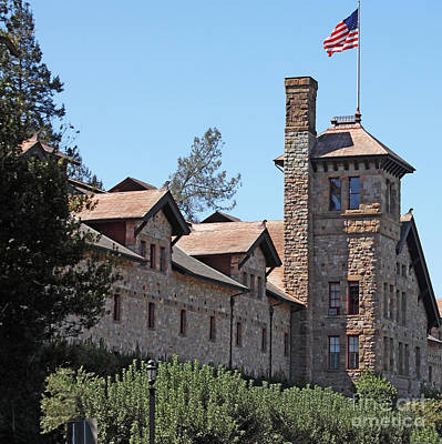 The Culinary Institute Of America Greystone St Helena Napa California 5d29498 Square Poster by Wingsdomain Art and Photography