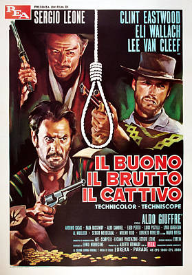 The Good, The Bad And The Ugly, Aka Il Poster by Everett