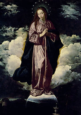 The Immaculate Conception Poster by Diego Rodriguez de Silva y Velazquez