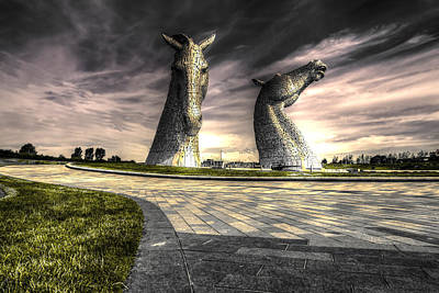 The Kelpies Poster by Jim Sloan