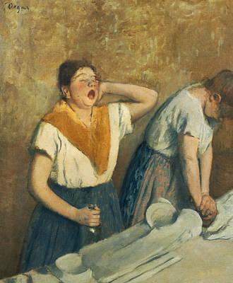 The Laundresses Poster by Edgar Degas